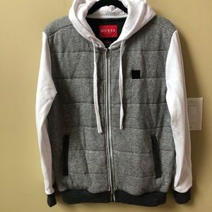 Guess hooded full zip jacket